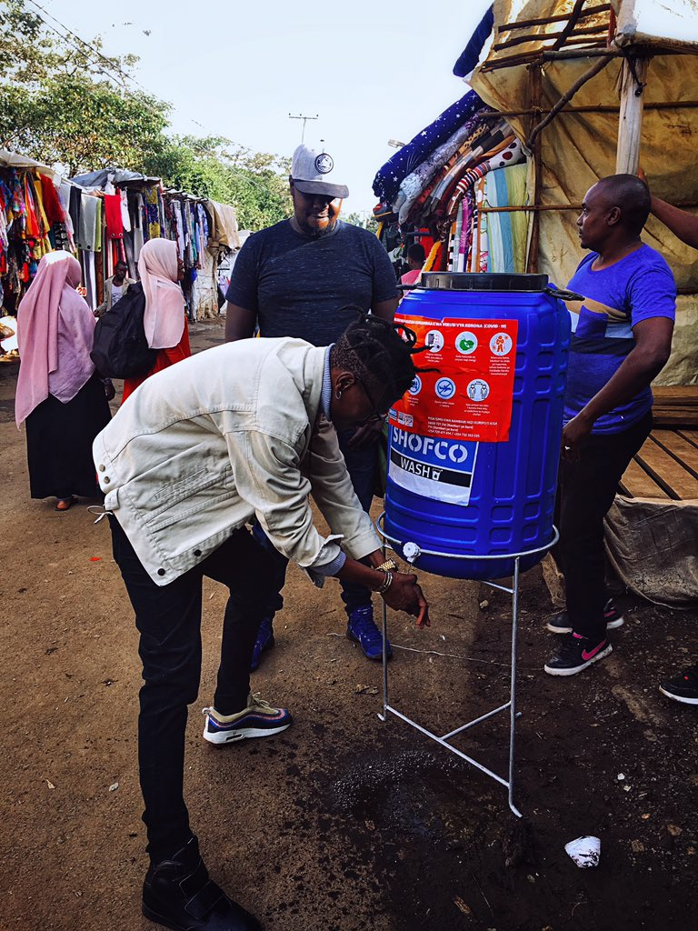 Under the Octo Foundation, which is his movement, they are currently partnering with various health players in the installation of hand washing points at various points, accessed by people. As one of the places is Toi Market, ...
